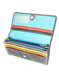 Ladies Versatile Super Soft Real Leather Wallet Purse & Credit Card Holder With Coin Purse / Section - Holds 9... coupon codes 2015