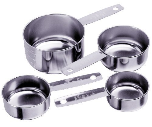 Prepworks from Progressive International BA-3498 Stainless Steel 4-Piece Measuring Cup Set