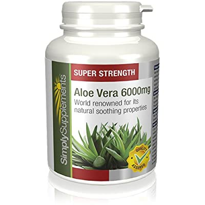 SimplySupplements Aloe Vera 6000mg |For a Healthy Digestive System| 360 Tablets from Simply Supplements