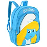 The Smurfs SMURFETTE 16 Inch Backpack - Blonde Smurfette Graphic on Pocket