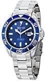 "SO&CO New York Men's ""Specialty Yacht Club"" Quartz Unidirectional Blue Bezel Date Stainless Steel Link Bracelet Watch"