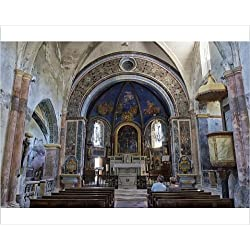 Photographic Print of Interior of Notre Dame Dalidon Church, Medieval village of Oppede le Vieux
