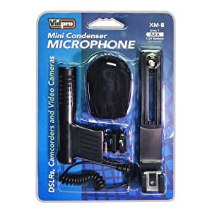 Canon VIXIA HF R500 Camcorder External Microphone from Vidpro