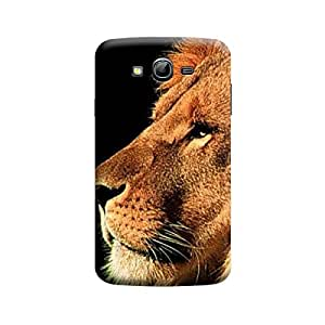 Desicase Samsung Grand Lion Face 3D Matte Finishing Printed Designer Hard Back Case Cover (Brown)