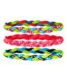 Under Armour Womens UA Braided Mini Headbands - 3pk One Size Fits All High-Vis Yellow