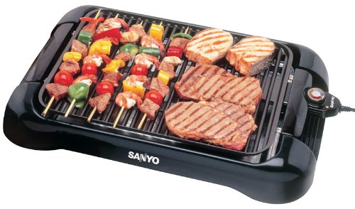 Sanyo HPS-SG3 200-Square-Inch Electric Indoor Barbeque Grill, Black image