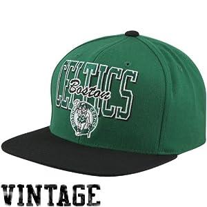 NBA Mitchell & Ness Boston Celtics Reverse Stack Snapback Hat - Green Black by Mitchell & Ness