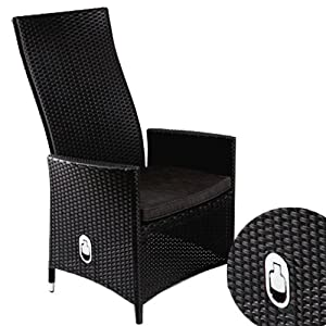 Verstellbarer Polyrattan Sessel Inkl Kissen Braun Pictures to pin on ...