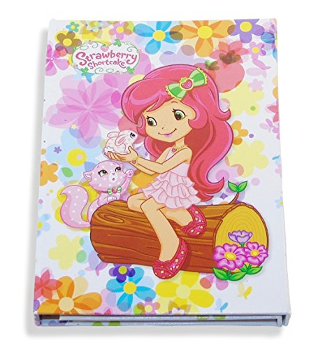 Strawberry-Shortcake-Tri-Fold-Vanity-Mirror-and-Memo-Pad-Kitty-and-Bunny-with-Rainbow-Floral