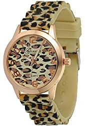 OrangeTag Sexy Wild Leopard Silicone Band Quartz Analog Wrist Watches Women Girl...