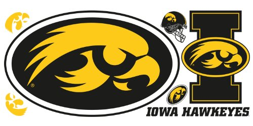 Roommates Rmk1995Gm University Of Iowa Giant Peel And Stick Wall Decals front-275160