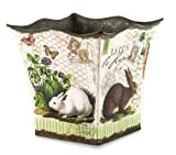 Michel Design Works Tin Bucket, Small, Bunnies
