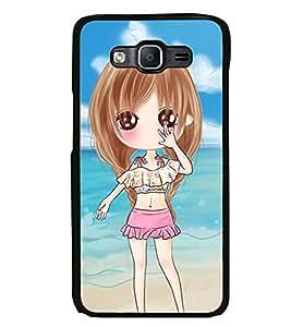 Printvisa Sweet Gir Lon A Beach Back Case Cover for Samsung Galaxy On5::Samsung Galaxy On5 G550FY