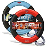 Wii Disney Cars 2 (2011) Racing Wheel Set (Lightning McQueen & Finn McMissile) with Remote Labels