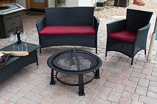 AZ-Patio-Heaters-Fire-Pit-Wood-Burning-with-Cooking-Grate-30-inch