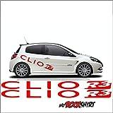 """Wewom lot de 2 autocollants """"cLIO r3"""" 100 cm x 15 cm-qualité professionnelle-résiste"""