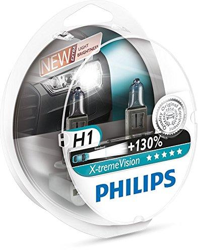 Philips-12258XVS2-X-treme-Vision-Lampada-Alogena-H1-12V-55W-130-di-Luce-in-Pi-40-Pi-Bianca