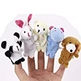 Plush Toy Animal Finger Puppets Baby Toy Gift Sets 10pcs Plush Child Baby Kids Early Education Toys Gift for Boys and Girls