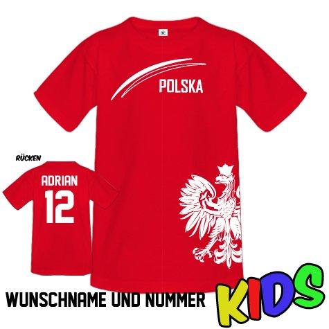 POLEN POLSKA FAN SHIRT - 01 - WUNSCHNAME UND