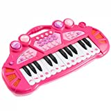 24 Key Kids Electronic Musical Piano Keyboard Toy Instrument Blue