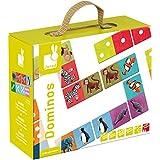 Janod 4502981 - Domino Spiel - Exotische Tiere