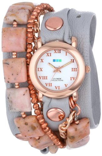 la-mer-collections-donna-lmmulti1005-pink-opal-copper-pyrite-wrap-orologio