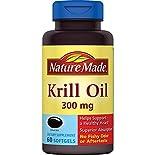 Nature Made Krill Oil, 300 mg, Liquid Softgels, 60 softgels