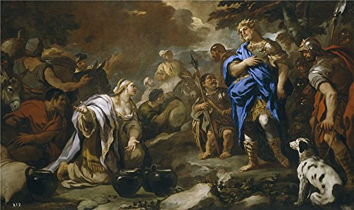 The Perfect Effect Canvas Of Oil Painting 'Giordano Luca La Prudente Abigail 1696 97 ' ,size: 24 X 40 Inch / 61 X 103 Cm ,this High Quality Art Decorative Canvas Prints Is Fit For Kitchen Gallery Art And Home Artwork And Gifts (Sewing Machine Accesory Bible compare prices)