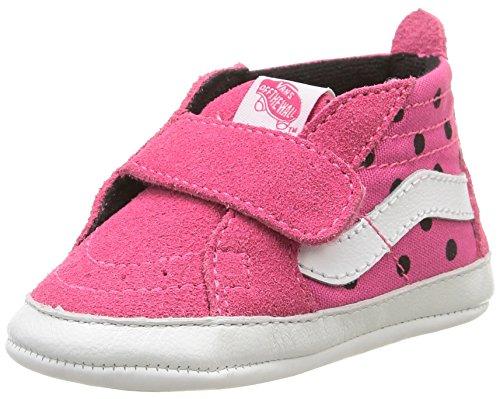 VansSk8-Hi Crib - Espadrilla per bebè Bimba 0-24 , Rosa (Rose (Polka Dots/Hot Pink/True White)), 19