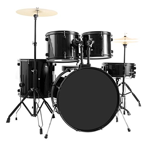 costzon-full-size-complete-adult-5-piece-drum-set-with-cymbal-throne-black