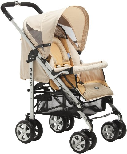 Zooper 2011 Bolero Stroller/Bassinet, Flax Brown (Discontinued by Manufacturer)