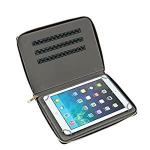 """Inspired Quality Universal 7"""" 7.7"""" 8 7 inch 8 inch Tablet PC MID PU Leather Protect Cover Case Stand with 360 Hortizontal and Vertical Rotation view for Apple, Samsung, HTC, Blackburry, Lenovo , Bush, Nexus, Kodak, Polaroid, Sony, Linx, Toshiba, Wikipad, Tesco Hudl,LG , HP, Microsoft , ebooks, any Tablet between 7 inch to 8.1 inch"""