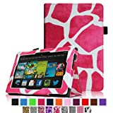 Fintie Amazon All New Kindle Fire HD 7 inch Slim Fit Folio Case with Auto Sleep / Wake Feature (will only fit All New Kindle Fire HD 7 2013 Model) - Giraffe Magenta