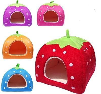 P.L Soft Sponge Strawberry Small Cotton Soft Dog Cat Pet Bed House S/m/l/xl