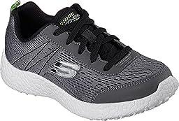 Skechers Kids Boys\' Burst-Second Wind Sneaker, Charcoal/Black, 5.5 M US Big Kid