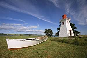 Wallmonkeys WM117601 The Seaport Lighthouse Museum on Prince Edward Island Peel and Stick Wall Decals (24 in W x 16 in H)