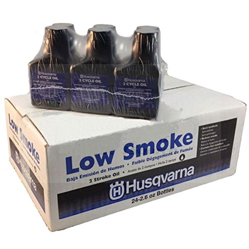 Husqvarna Low Smoke 2 Cycle Oil 2.6 oz - Case 24 Bottles 50:1 Gal Mix (Husqvarna Fuel Mix compare prices)