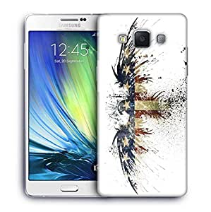 Snoogg Eagle with american flag Designer Protective Back Case Cover For Samsung Galaxy A7