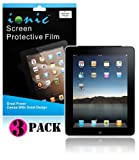 IONIC Screen Protector Film MATTE (Anti-Glare) for Apple iPad 2, iPad 3, iPad 4, iPad 2nd, iPad 3rd, iPad 4th Generation AT&T Verizon 4G LTE (3-pack)[CrazyOnDigital Retail Package]
