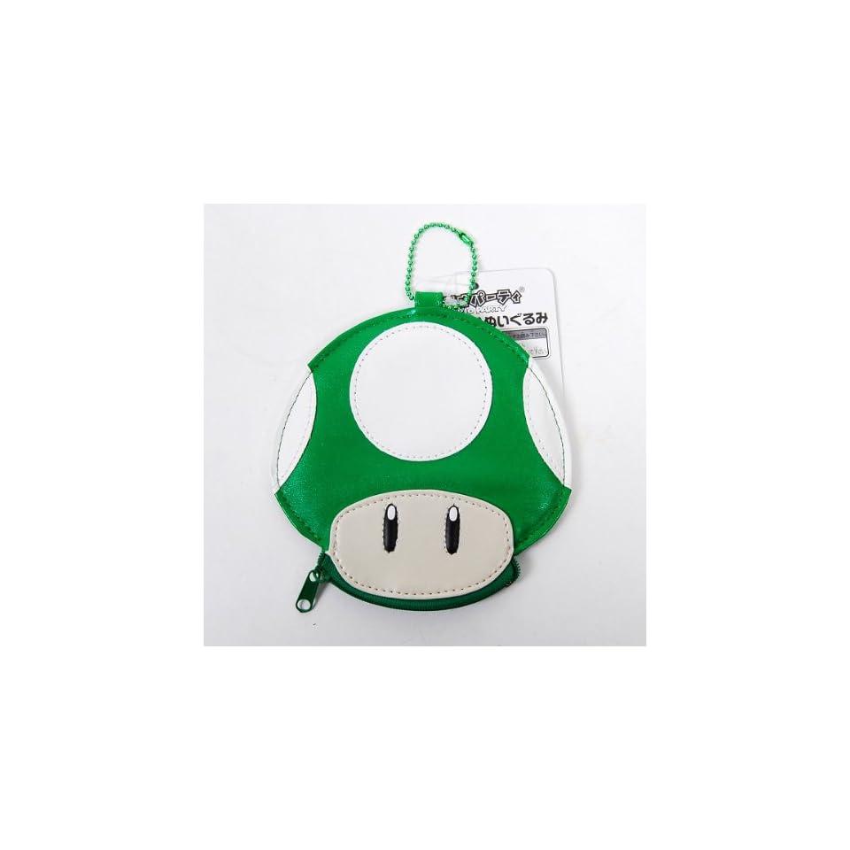 Super Mario Bros. Mushroom Big Wallet Purse Green