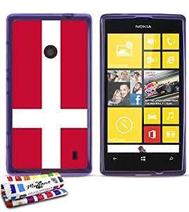 Case Flag Denmark By MUZZANO for NOKIA LUMIA 520: MUZZANO: Electronics