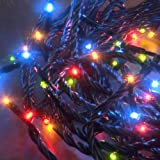 180x MICRO LED MULTI-COLOURED fairy lights, 12.5m, Christmas Festive - 3632-500 - low energy LED