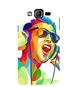 Evaluze music man Printed Back Cover for SAMSUNG GALAXY ON7 PRO 2016