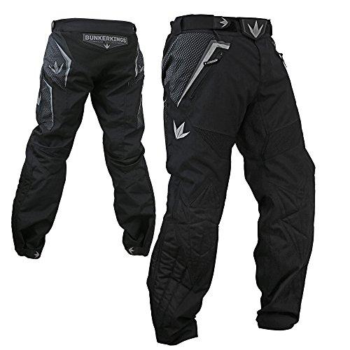 Bunker Kings Supreme Paintball Pants - Black / Grey - Large (Paintball Slide Pants compare prices)