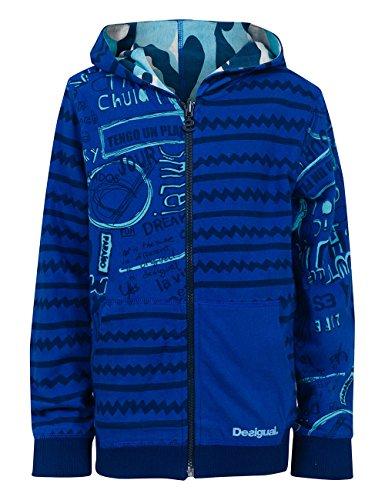Desigual Jungen Sweatshirt SWEAT_ERIS, Gr. 104 (Herstellergröße: 4), Blau (Estate Blue 5016)