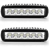 ANNT 18W LED ワークライト スポットタイプ 高輝度 1440lm 防水仕様 トラック 四輪自動車 作業用 ランプ 12V・24V車兼用 矩形 作業灯 【2個セット】【1年間 保証期間 付】