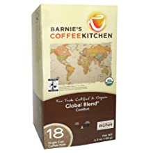 Barnie&#039;s 58009 Global Blend Fair Trade Coffee Pods, 18-count