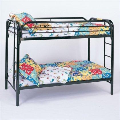 Black Metal Bunk Beds 183 front