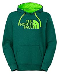 The North Face Half Dome Hoodie Mens Depth Green Heather/Power Green S