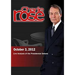 Charlie Rose - Live Analysis of the Presidential Debate (October 3, 2012)